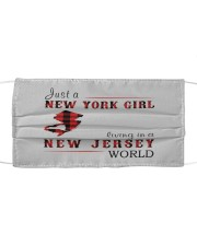 JUST A NEW YORK GIRL IN A NEW JERSEY WORLD Cloth face mask thumbnail