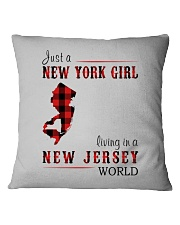 JUST A NEW YORK GIRL IN A NEW JERSEY WORLD Square Pillowcase thumbnail