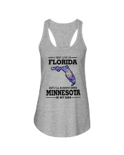 LIVE IN FLORIDA BUT I'LL HAVE MINNESOTA IN MY DNA Ladies Flowy Tank thumbnail