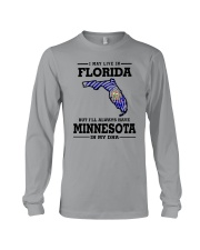 LIVE IN FLORIDA BUT I'LL HAVE MINNESOTA IN MY DNA Long Sleeve Tee thumbnail