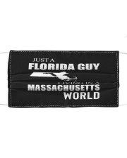 JUST A FLORIDA GUY IN A MASSACHUSETTS WORLD Cloth face mask thumbnail
