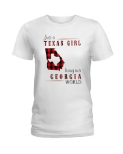 JUST A TEXAS GIRL IN A GEORGIA WORLD Ladies T-Shirt thumbnail