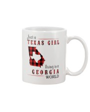 JUST A TEXAS GIRL IN A GEORGIA WORLD Mug tile
