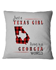 JUST A TEXAS GIRL IN A GEORGIA WORLD Square Pillowcase thumbnail