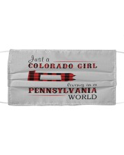 JUST A COLORADO GIRL IN A PENNSYLVANIA WORLD Cloth face mask thumbnail