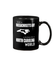JUST A MASSACHUSETTS GUY IN A NORTH CAROLINA WORLD Mug tile