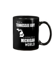 JUST A TENNESSEE GUY IN A MICHIGAN WORLD Mug thumbnail