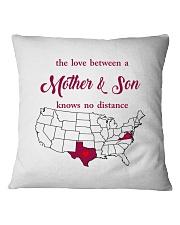 TEXAS VIRGINIA THE LOVE MOTHER AND SON Square Pillowcase thumbnail