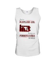 JUST A MARYLAND GIRL IN A PENNSYLVANIA WORLD Unisex Tank thumbnail