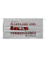JUST A MARYLAND GIRL IN A PENNSYLVANIA WORLD Cloth face mask thumbnail