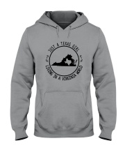 TEXAS GIRL LIVING IN VIRGINIA WORLD Hooded Sweatshirt front