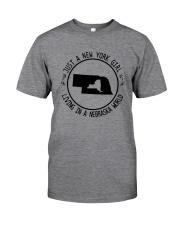 NEW YORK GIRL LIVING IN NEBRASKA WORLD Classic T-Shirt thumbnail