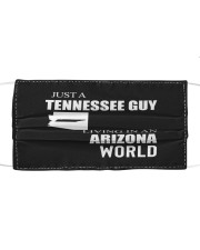 JUST A TENNESSEE GUY IN AN ARIZONA WORLD Cloth face mask thumbnail