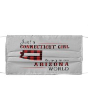 JUST A CONNECTICUT GIRL IN AN ARIZONA WORLD Cloth face mask thumbnail