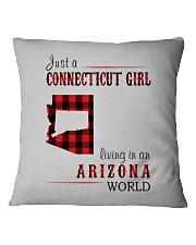 JUST A CONNECTICUT GIRL IN AN ARIZONA WORLD Square Pillowcase thumbnail