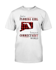 JUST A FLORIDA GIRL IN A CONNECTICUT WORLD Classic T-Shirt thumbnail