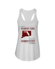 JUST A FLORIDA GIRL IN A CONNECTICUT WORLD Ladies Flowy Tank thumbnail