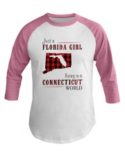 JUST A FLORIDA GIRL IN A CONNECTICUT WORLD Baseball Tee thumbnail