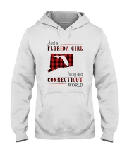 JUST A FLORIDA GIRL IN A CONNECTICUT WORLD Hooded Sweatshirt front