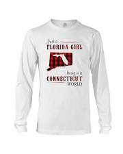 JUST A FLORIDA GIRL IN A CONNECTICUT WORLD Long Sleeve Tee thumbnail