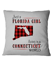 JUST A FLORIDA GIRL IN A CONNECTICUT WORLD Square Pillowcase thumbnail