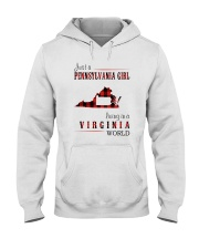 JUST A PENNSYLVANIA GIRL IN A VIRGINIA WORLD Hooded Sweatshirt front