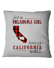 JUST AN OKLAHOMA GIRL IN A CALIFORNIA WORLD Square Pillowcase thumbnail