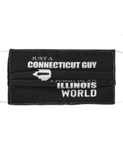 JUST A CONNECTICUT GUY IN AN ILLINOIS WORLD Cloth face mask thumbnail