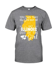 YOU CAN'T TAKE ILLINOIS OUT OF THE GIRL Classic T-Shirt thumbnail