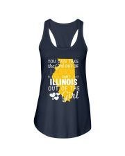 YOU CAN'T TAKE ILLINOIS OUT OF THE GIRL Ladies Flowy Tank thumbnail
