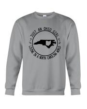 OHIO GIRL LIVING IN NORTH CAROLINA WORLD Crewneck Sweatshirt thumbnail