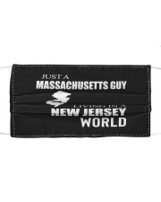 JUST A MASSACHUSETTS GUY IN A NEW JERSEY WORLD Cloth face mask thumbnail