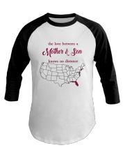 FLORIDA CONNECTICUT THE LOVE MOTHER AND SON Baseball Tee thumbnail