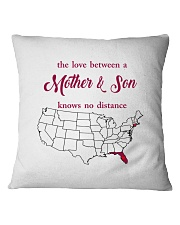 FLORIDA CONNECTICUT THE LOVE MOTHER AND SON Square Pillowcase thumbnail