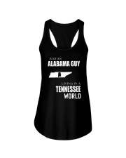 JUST AN ALABAMA GUY IN A TENNESSEE WORLD Ladies Flowy Tank thumbnail
