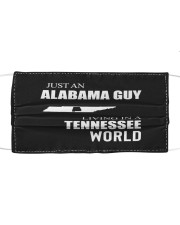 JUST AN ALABAMA GUY IN A TENNESSEE WORLD Cloth face mask thumbnail