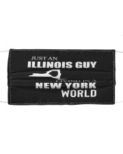 JUST AN ILLINOIS GUY IN A NEW YORK WORLD Cloth face mask thumbnail