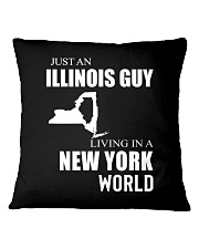 JUST AN ILLINOIS GUY IN A NEW YORK WORLD Square Pillowcase thumbnail