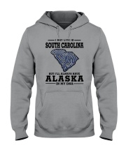LIVE IN SOUTH CAROLINA BUT ALASKA IN MY DNA Hooded Sweatshirt thumbnail