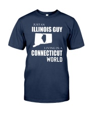 JUST AN ILLINOIS GUY IN A CONNECTICUT WORLD Classic T-Shirt thumbnail