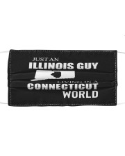 JUST AN ILLINOIS GUY IN A CONNECTICUT WORLD Cloth face mask thumbnail