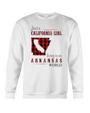 JUST A CALIFORNIA GIRL IN AN ARKANSAS WORLD Crewneck Sweatshirt thumbnail