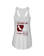 JUST A CALIFORNIA GIRL IN AN ARKANSAS WORLD Ladies Flowy Tank thumbnail
