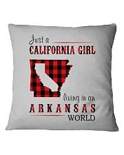 JUST A CALIFORNIA GIRL IN AN ARKANSAS WORLD Square Pillowcase thumbnail