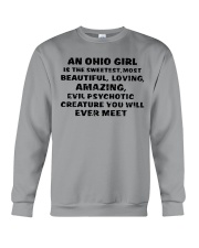 AN OHIO GIRL IS THE SWEETEST YOU'LL EVER MEET Crewneck Sweatshirt front