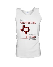 JUST A PENNSYLVANIA GIRL IN A TEXAS WORLD Unisex Tank thumbnail