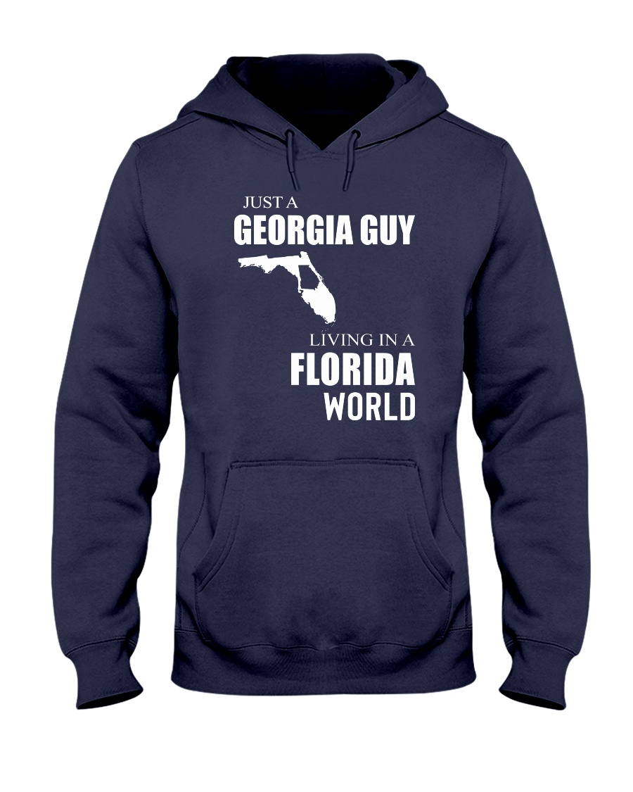 JUST A GEORGIA GUY IN A FLORIDA WORLD Hooded Sweatshirt