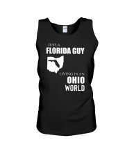 JUST A FLORIDA GUY IN AN OHIO WORLD Unisex Tank thumbnail