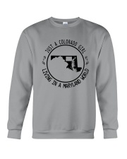 COLORADO GIRL LIVING IN MARYLAND WORLD Crewneck Sweatshirt thumbnail