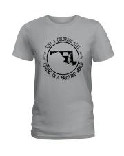 COLORADO GIRL LIVING IN MARYLAND WORLD Ladies T-Shirt thumbnail